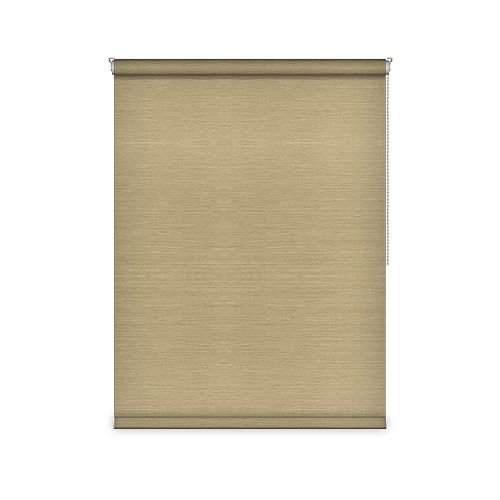 Sun Glow Blackout Roller Shade - Chain Operated Open Roll - 58.25-inch X 84-inch in Champagne