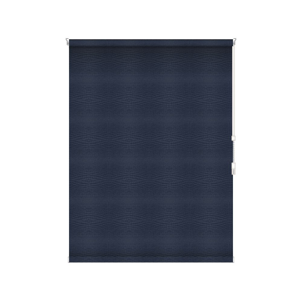 Sun Glow Blackout Roller Shade - Chain Operated Open Roll - 57.25-inch X 36-inch in Navy