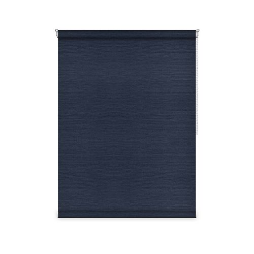 Sun Glow Blackout Roller Shade - Chain Operated Open Roll - 79.25-inch X 36-inch in Navy