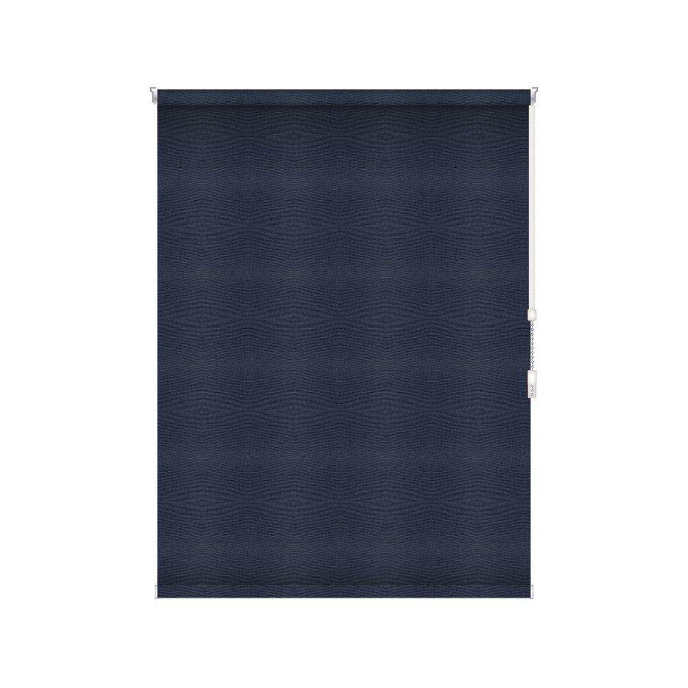 Sun Glow Tissue Opaque Toiles à Rouleau - Rouleau Ouvert à Chaîne - 68-po X 84-po en Marine