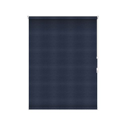 Sun Glow Blackout Roller Shade - Chain Operated Open Roll - 73.75-inch X 84-inch in Navy