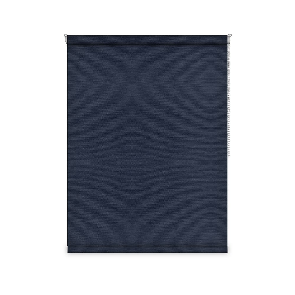 Sun Glow Blackout Roller Shade - Chain Operated Open Roll - 82.5-inch X 84-inch in Navy