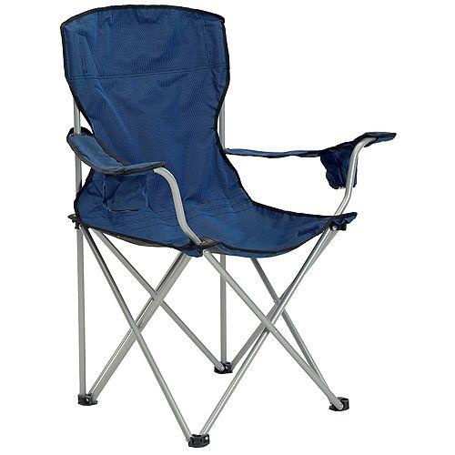 Deluxe Folding Chair - Navy/Black