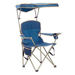 Chaise pliante max avec auvent - Marine