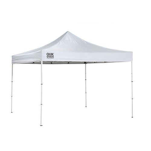 Quik Shade Marketplace MP100 Ultra Compact 10 x 10 ft. Straight Leg Canopy - White