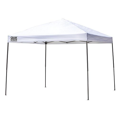 Quik Shade Expedition EX100 10 x 10 ft. Straight Leg Canopy - White