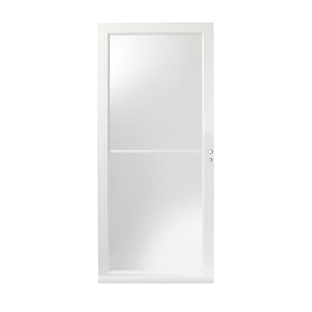 Andersen 4000 Series 32-Inch Full View Retractable Storm Door In White Right Hand