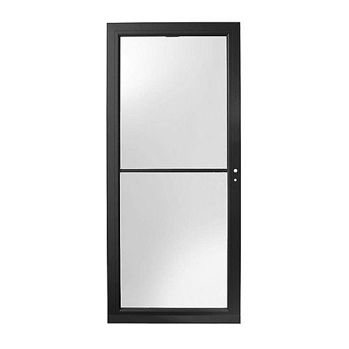 3000 Series 34-Inch Full View Retractable Storm Door In Black Right Hand