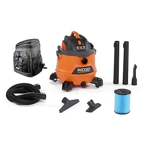 NXT 60 L (16 Gal.) 6.0 Peak HP Wet Dry Vacuum with Bonus Backpack Cooler