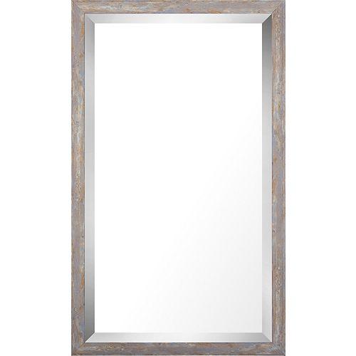 Art Maison Canada 17.75x29.75 Pastel Wood Wash Mirror Bevel Mirror