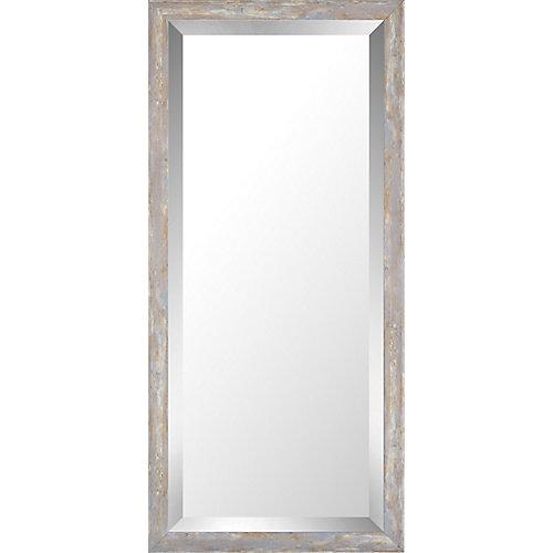 13.75x29.75 Pastel bois lavage Miroir biseauté miroir de