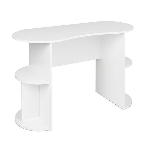 Kurv Compact Student Desk with Storage - White