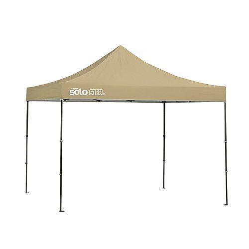 Quik Shade Solo Steel 100 10 x 10 ft. Straight Leg Canopy - Khaki