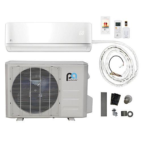 12,000 BTU, Efficacité écoénergétique 17.5, Connexions Rapides,  Pompe À Chaleur Mini-Split  (115V)
