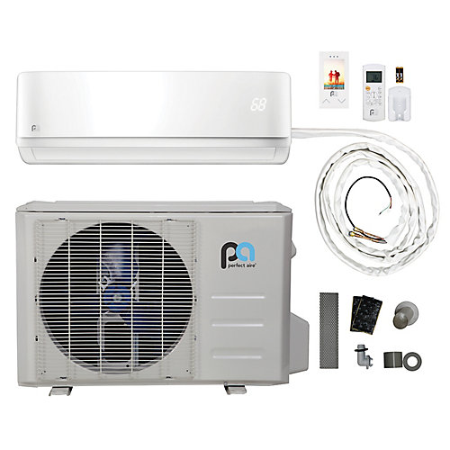 18,000 BTU, Efficacité écoénergétique 16, Connexions Rapides,  Pompe À Chaleur Mini-Split  (230V)