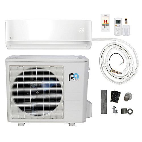 24,000 BTU, Efficacité écoénergétique 16, Connexions Rapides,  Pompe À Chaleur Mini-Split  (230V)