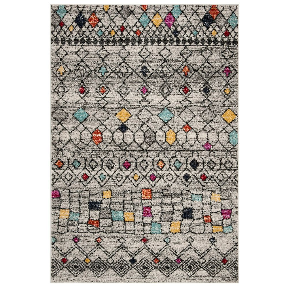 Safavieh Adirondack Jannine Light Grey / Multi 4 ft. x 6 ft. Indoor Area Rug