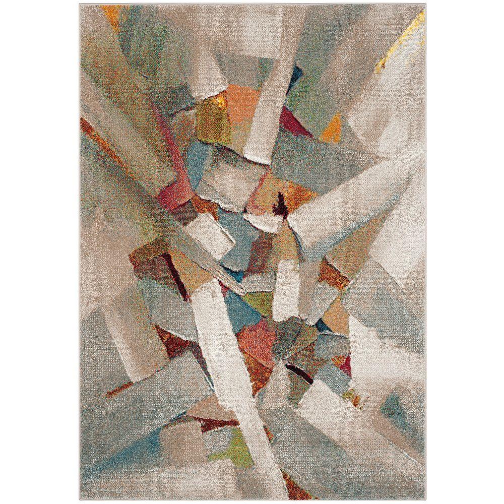 Safavieh Tapis d'intérieur carré, 6 pi 7 po x 6 pi 7 po , Porcello Jazmyn, gris / multi