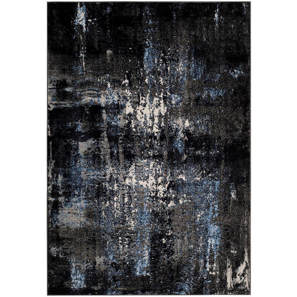Safavieh Tapis d'intérieur, 3 pi x 5 pi, Porcello Wichita, gris / noir