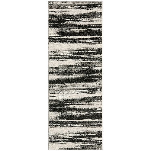 Safavieh Retro Aisha Dark Grey / Light Grey 2 ft. 3-inch x 11 ft. Indoor Runner