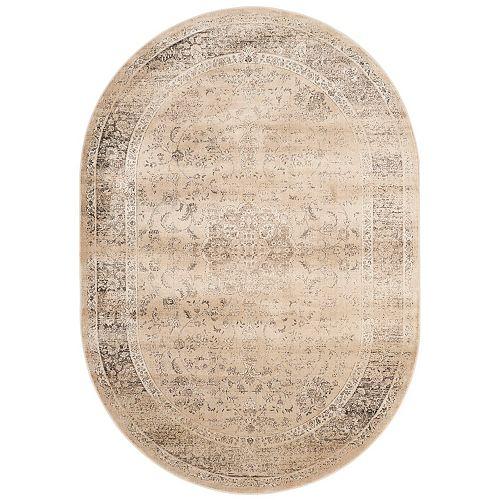 Tapis d'intérieur ovale, 5 pi 3 po x 7 pi 6 po, Vintage Bevin, beige chaud