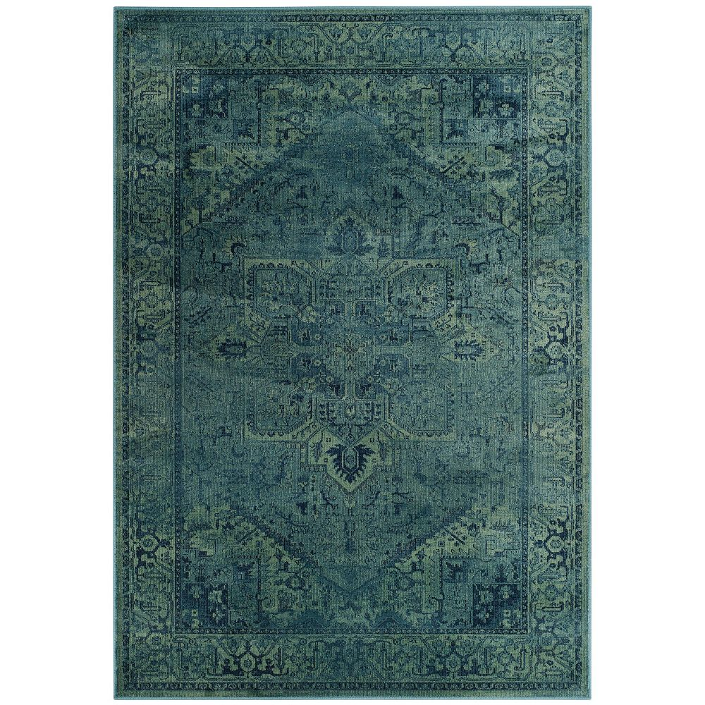 Safavieh Tapis d'intérieur, 3 pi 3 po x 5 pi 7 po, Vintage Lecia, turquoise