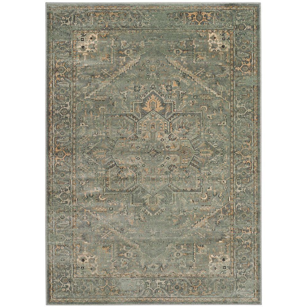 Safavieh Tapis d'intérieur, 4 pi x 5 pi 7 po, Vintage Lecia, gris / multi