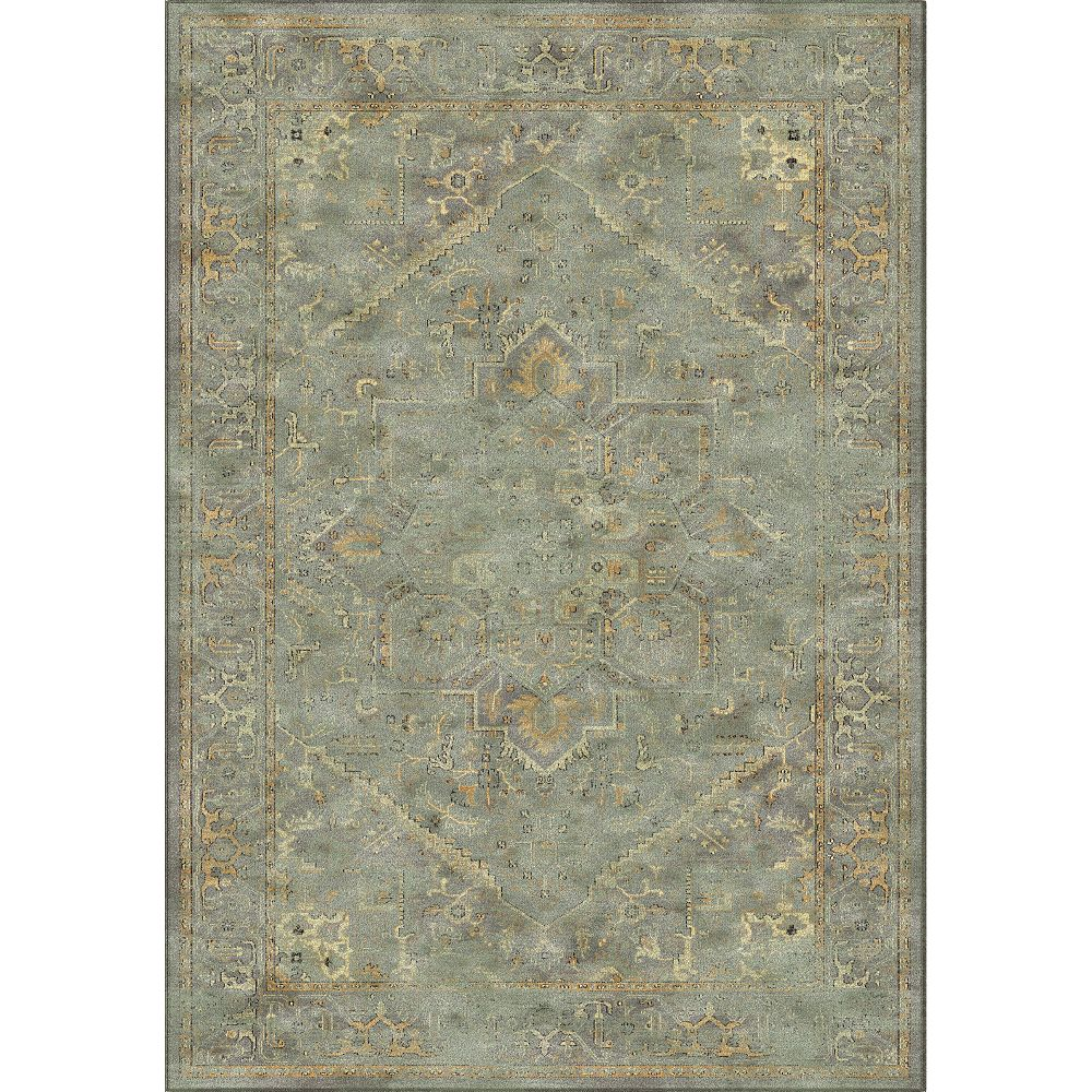 Safavieh Tapis d'intérieur, 5 pi 3 po x 7 pi 6 po, Vintage Lecia, gris / multi