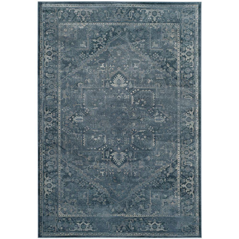 Safavieh Tapis d'intérieur, 8 pi x 11 pi 2 po, Vintage Lecia, bleu