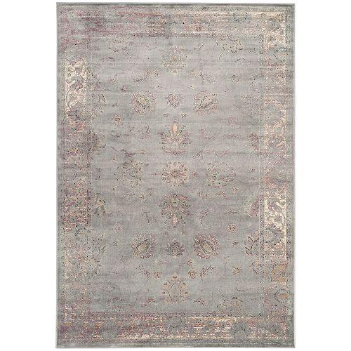 Tapis d'intérieur, 8 pi x 11 pi 2 po, Vintage Rothesay, gris / multi