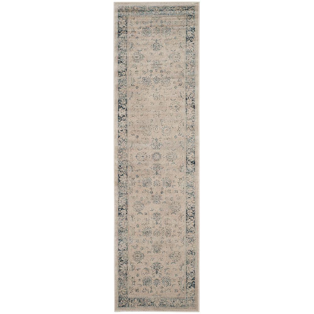 Safavieh Vintage Rothesay Stone / Blue 2 ft. 2-inch x 8 ft. Indoor Runner