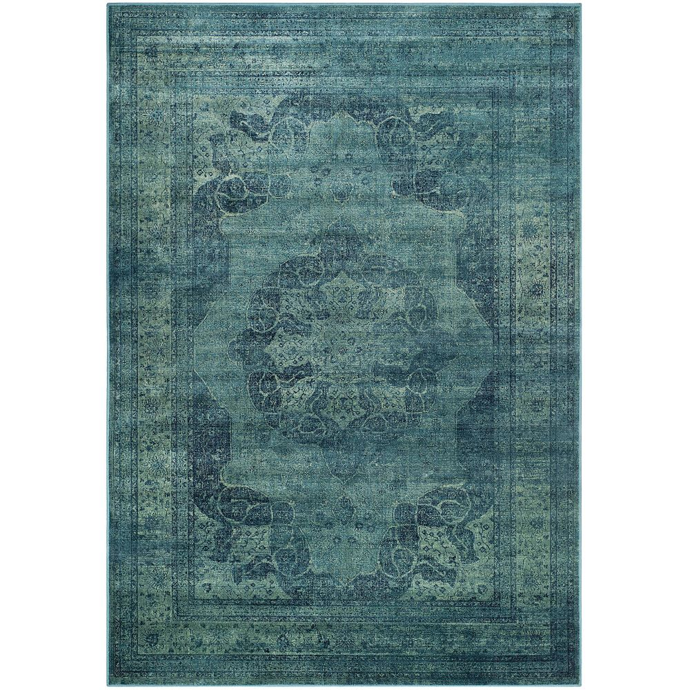 Safavieh Vintage Autumn Blue / Multi 4 ft. x 5 ft. 7-inch Indoor Area Rug