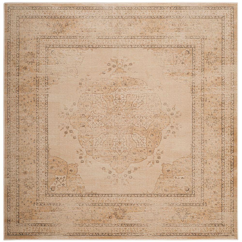 Safavieh Tapis d'intérieur carré, 6 pi x 6 pi , Vintage Autumn, crème