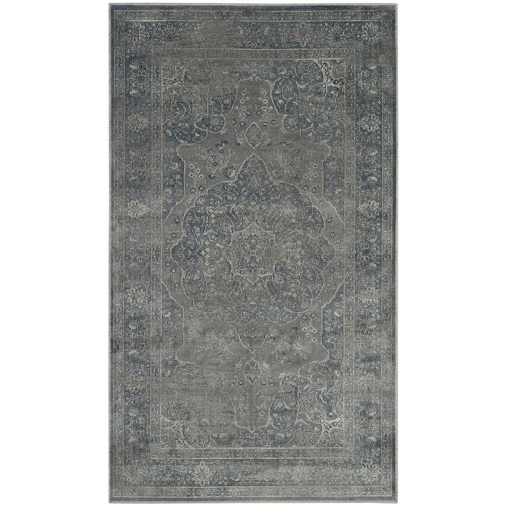 Safavieh Vintage Autumn Light Blue Light Grey 2 Ft X 3 Ft Indoor Area Rug The Home Depot Canada