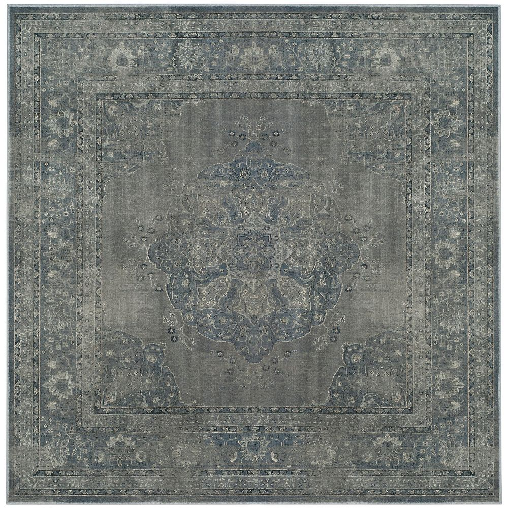 Safavieh Vintage Autumn Light Blue Light Grey 6 Ft X 6 Ft Square Indoor Area Rug The Home Depot Canada