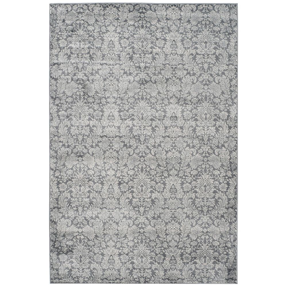 Safavieh Tapis d'intérieur, 6 pi 7 po x 9 pi 2 po, Vintage Diggory, gris foncé / gris clair