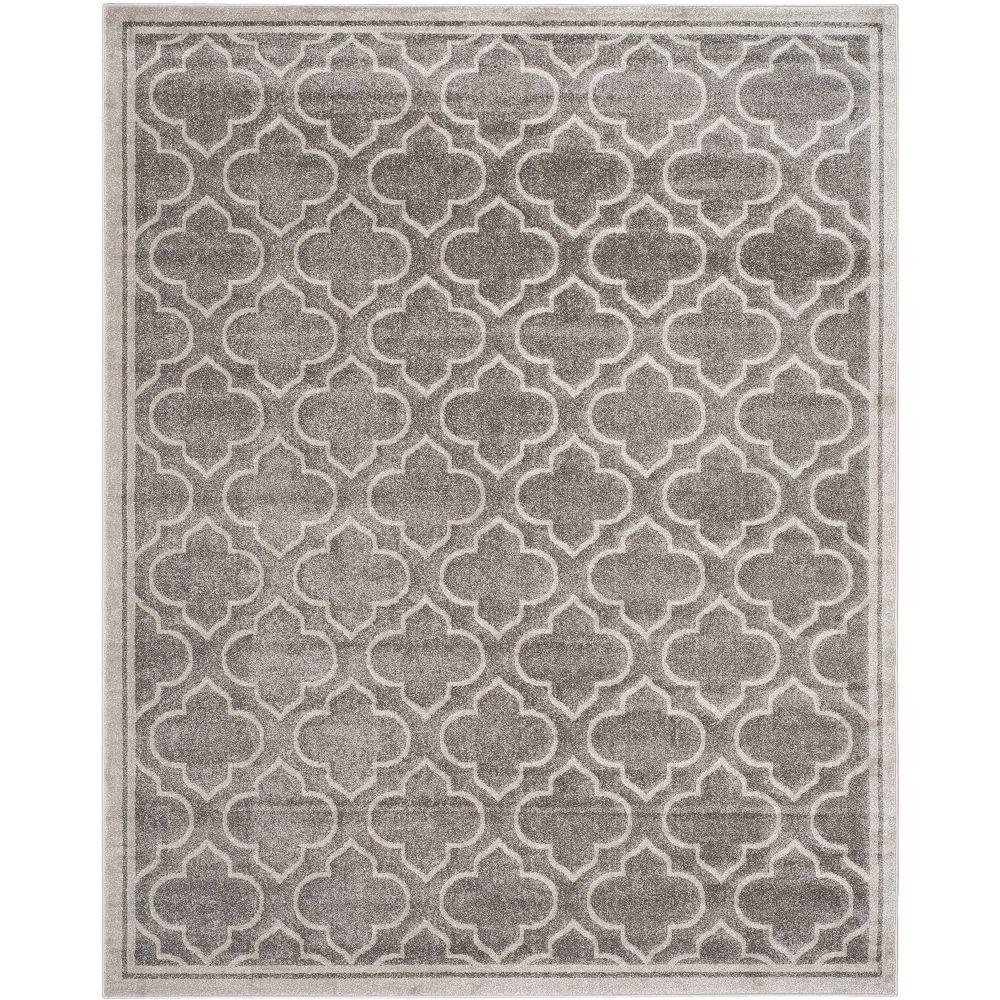 Safavieh Tapis d'intérieur/extérieur, 8 pi x 10 pi, Amherst Aurora, gris / gris clair