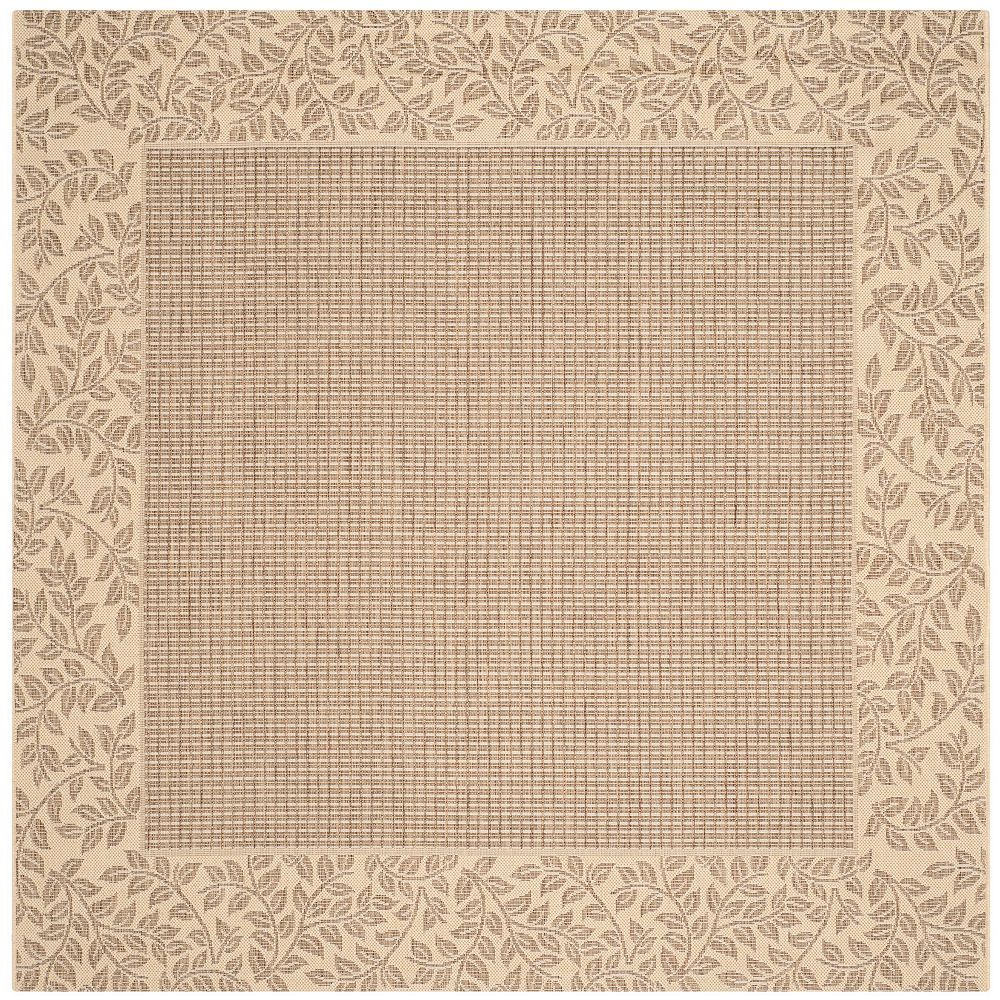 Safavieh Courtyard May Brown / Natural 6 ft. 7-inch x 6 ft. 7-inch Square Indoor Area Rug
