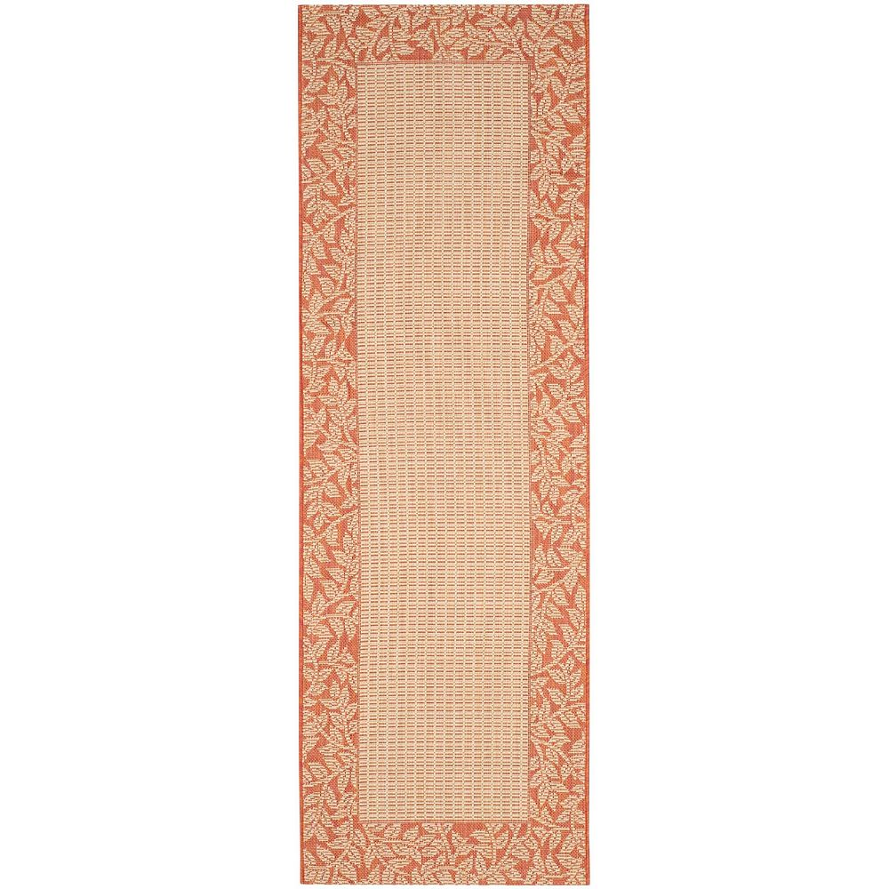 Safavieh Courtyard May Natural / Terracotta 2 ft. 3-inch x 6 ft. 7-inch Indoor Runner