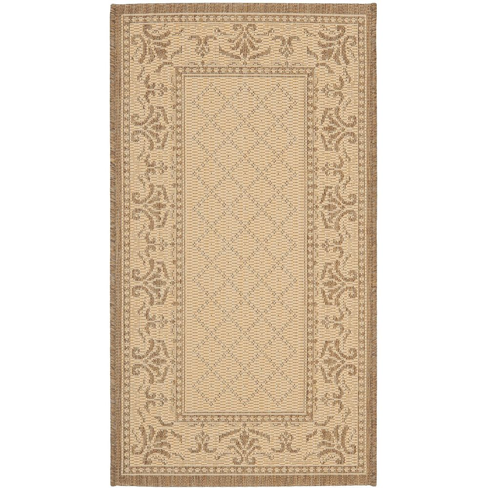 Safavieh Courtyard Bayon Natural / Brown 2 ft. x 3 ft. 7-inch Indoor Area Rug
