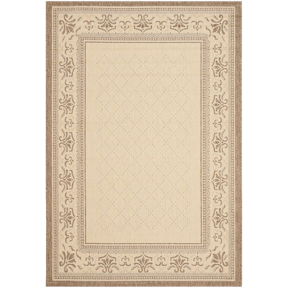 Safavieh Courtyard Bayon Natural / Brown 6 ft. 7-inch x 9 ft. 6-inch Indoor Area Rug