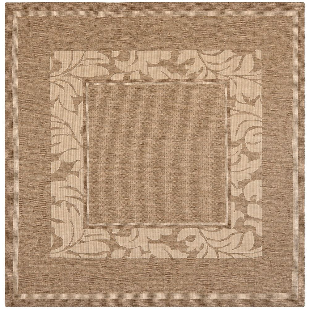 Safavieh Courtyard Venice Brown / Natural 7 ft. x 7 ft. Square Indoor Area Rug
