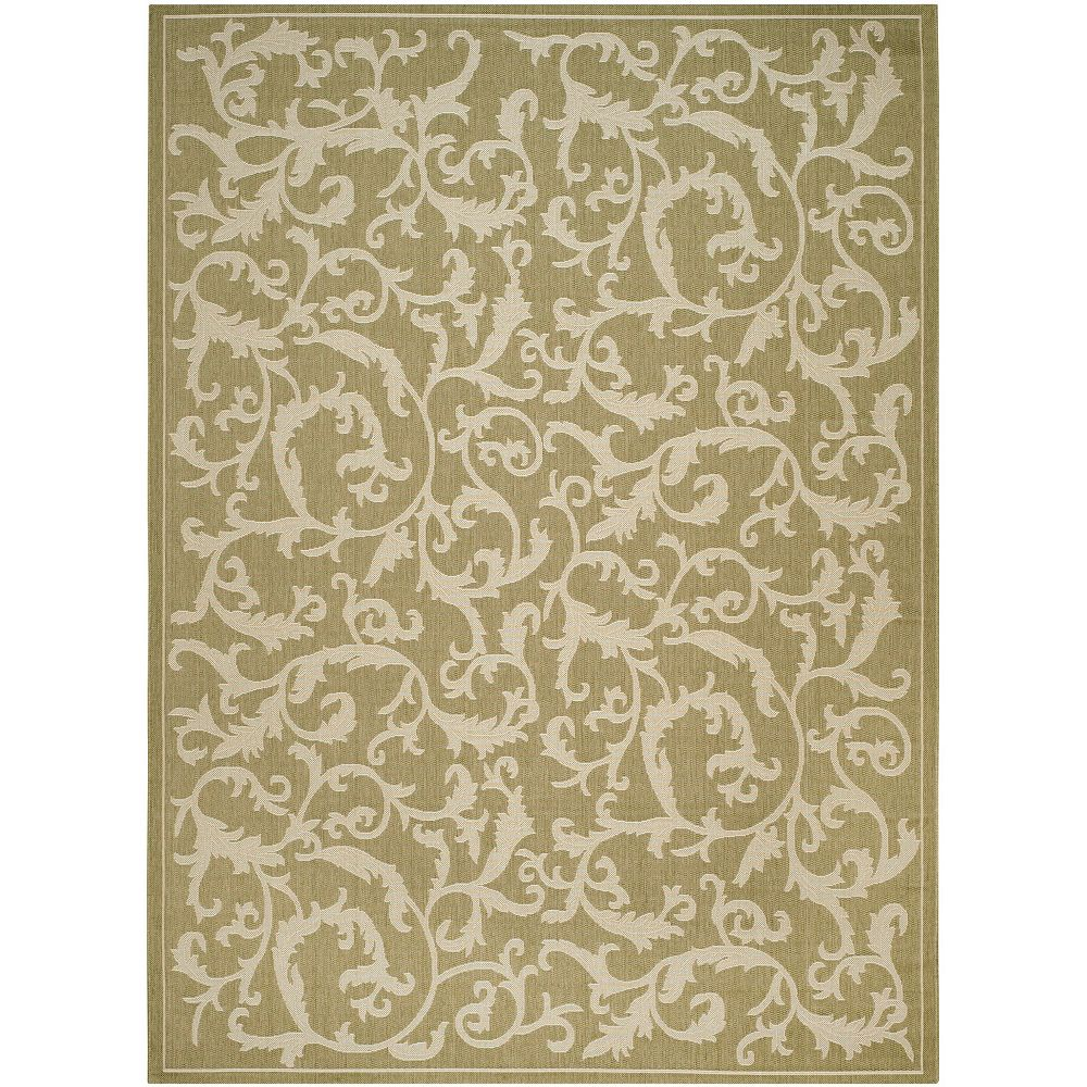 Safavieh Courtyard Calleigh Olive / Natural 8 ft. x 11 ft. Indoor Area Rug