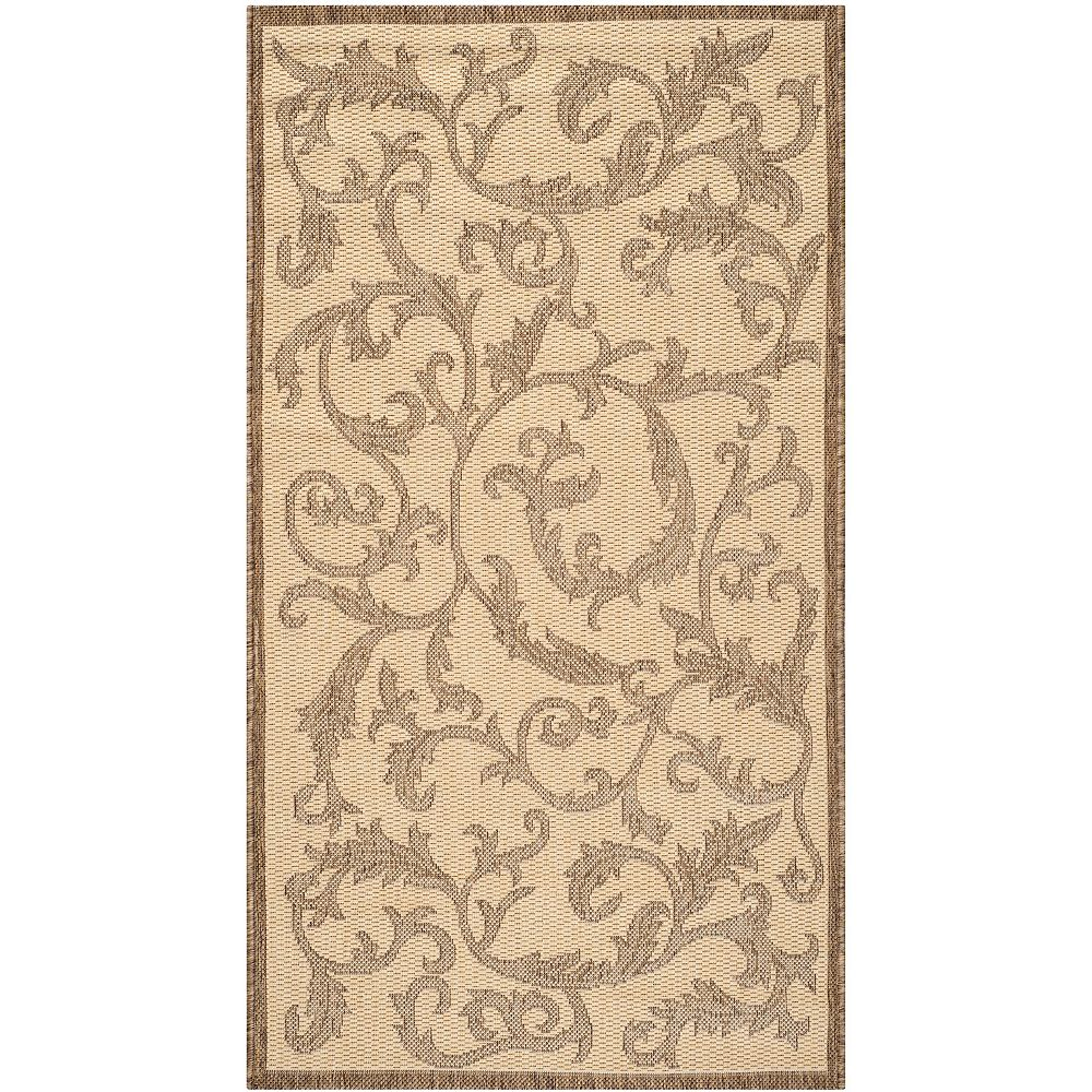 Safavieh Courtyard Calleigh Natural / Brown 2 ft. 7-inch x 5 ft. Indoor Area Rug