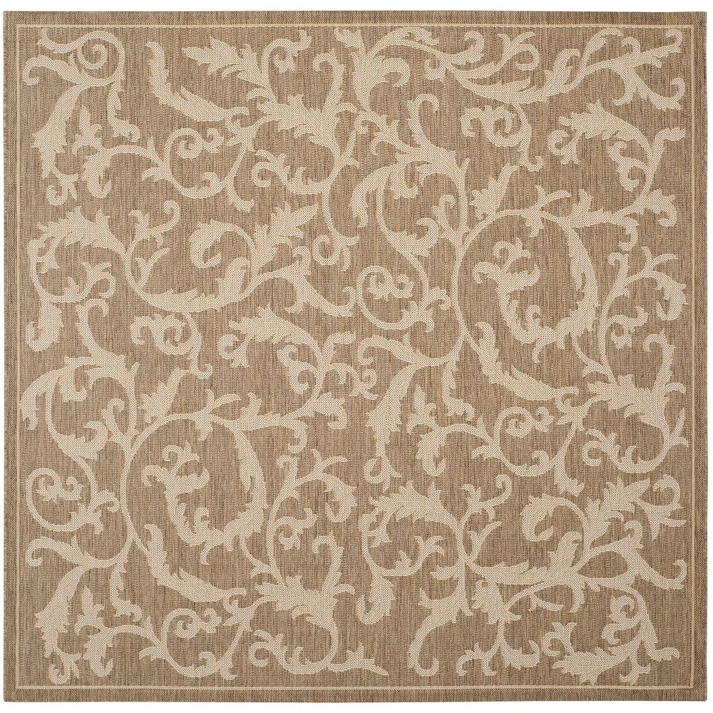 Safavieh Courtyard Calleigh Brown / Natural 7 ft. 10-inch x 7 ft. 10-inch Square Indoor Area Rug