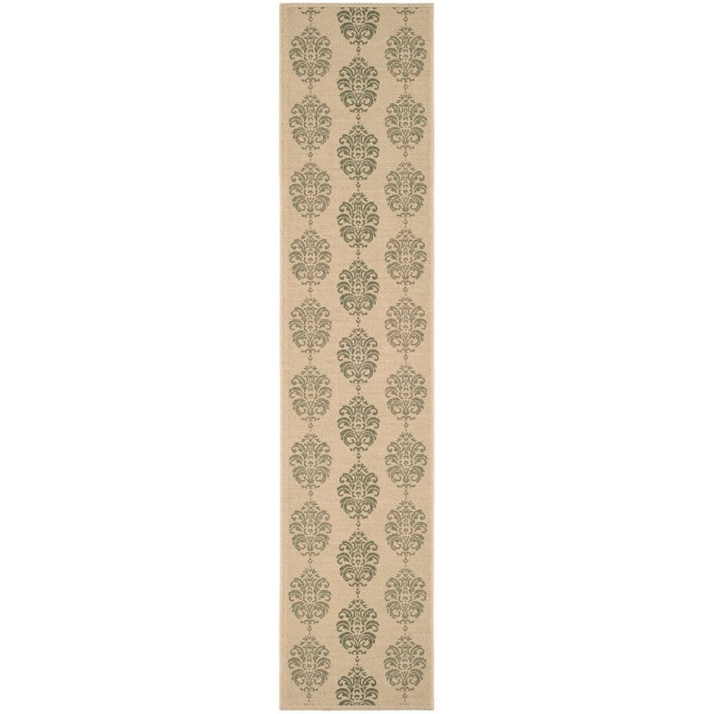 Safavieh Courtyard Isidore Natural / Olive 2 ft. 3-inch x 14 ft. Indoor Runner
