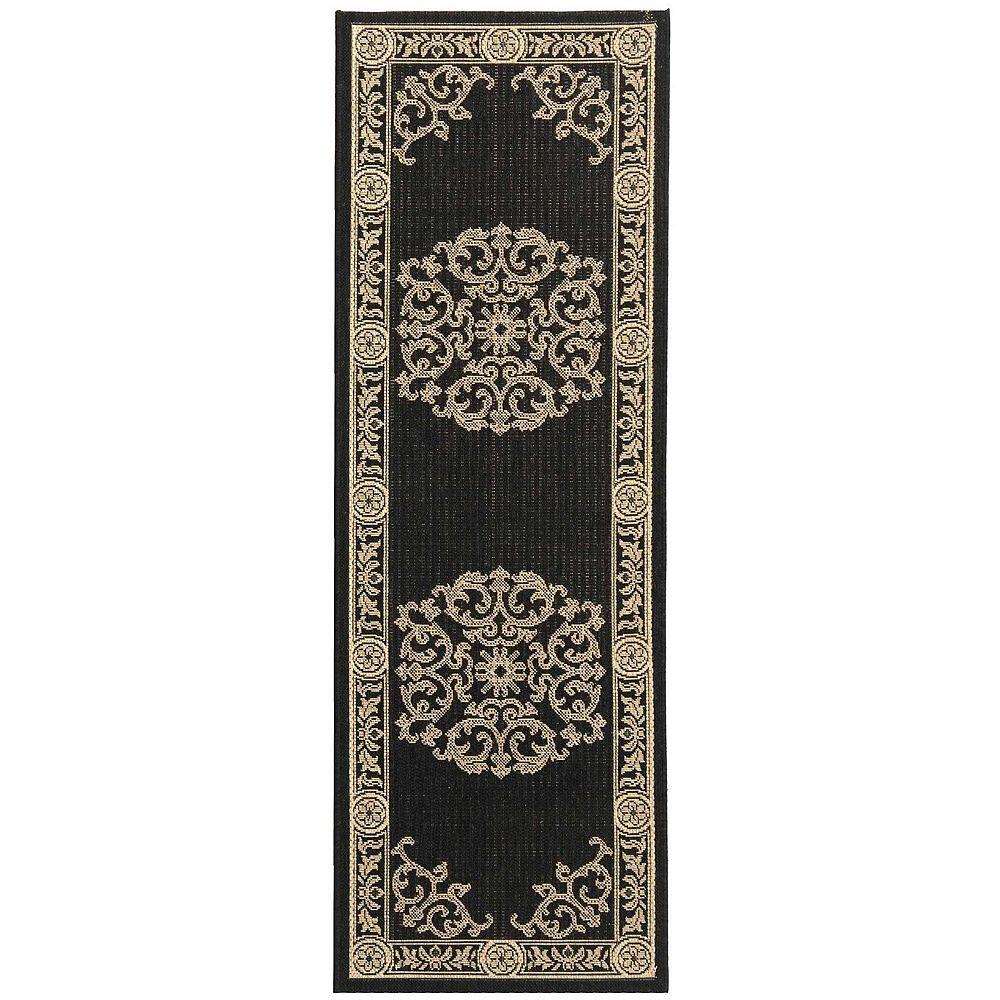 Safavieh Courtyard Blazhe Black / Sand 2 ft. 3-inch x 6 ft. 7-inch Indoor Runner