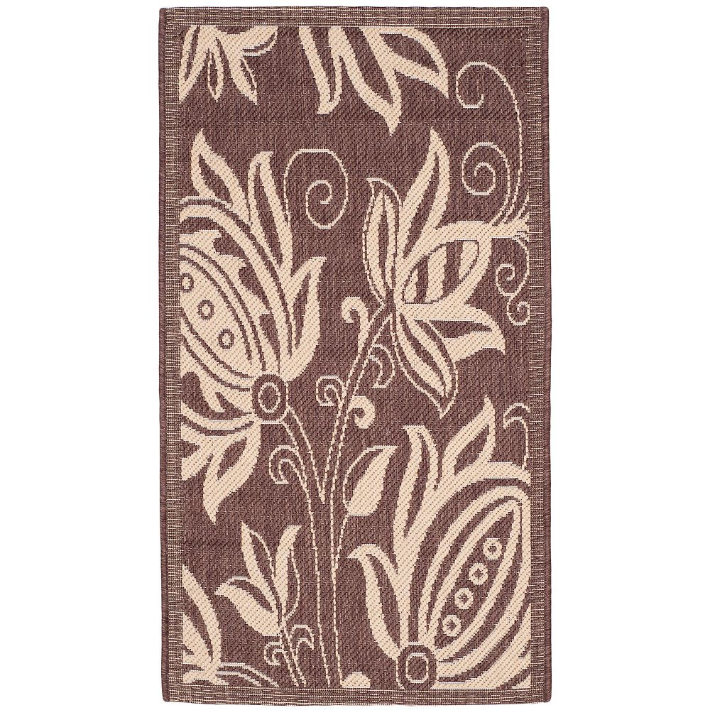 Safavieh Courtyard Dylan Chocolate / Natural 2 ft. x 3 ft. 7-inch Indoor Area Rug
