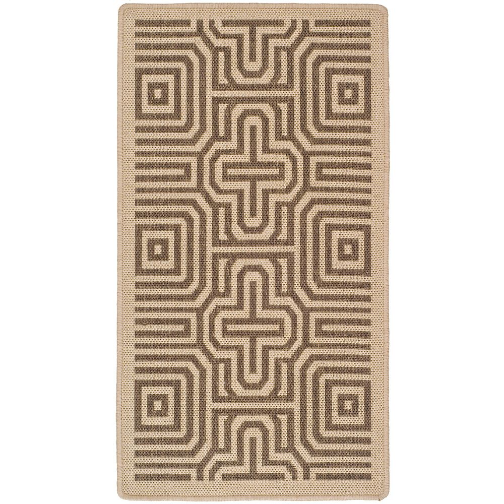 Safavieh Courtyard Deonne Natural / Brown 2 ft. 7-inch x 5 ft. Indoor Area Rug