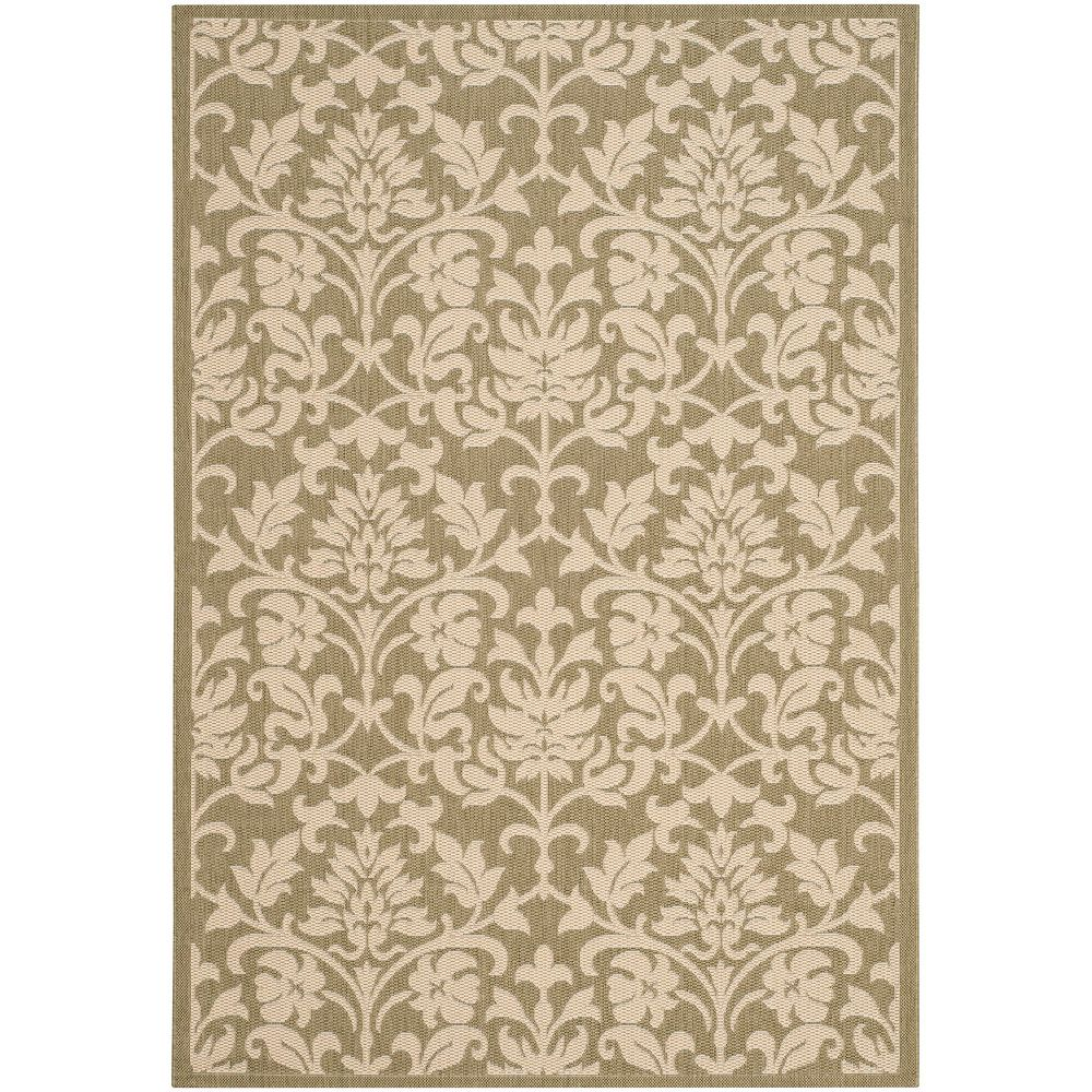 Safavieh Courtyard Imogene Olive / Natural 6 ft. 7-inch x 9 ft. 6-inch Indoor Area Rug